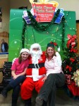 Jeff as Santa with Kathleen and Jenny